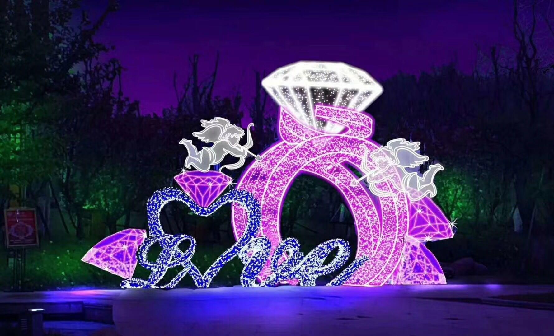 浪漫灯光节厂家活动现场求婚成功很高