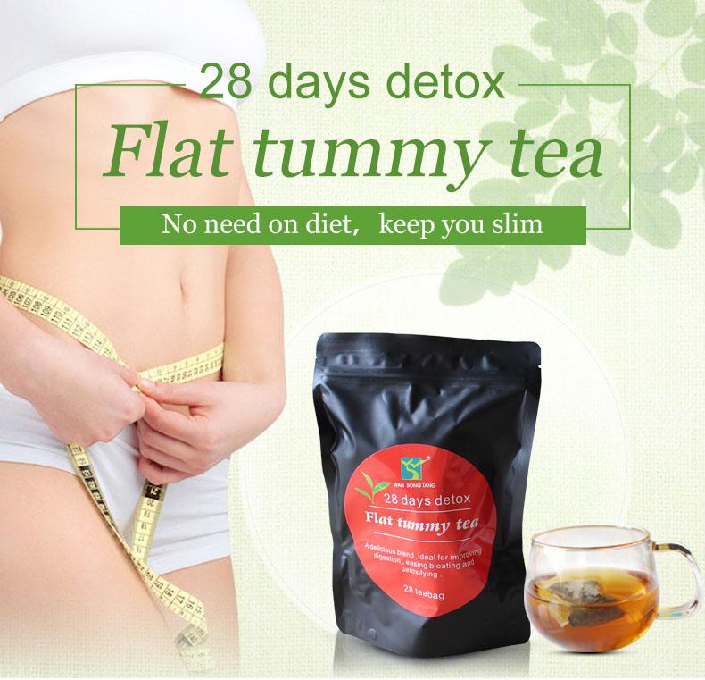 排毒茶28days detox flat tummy tea slimming tea 厂家直供