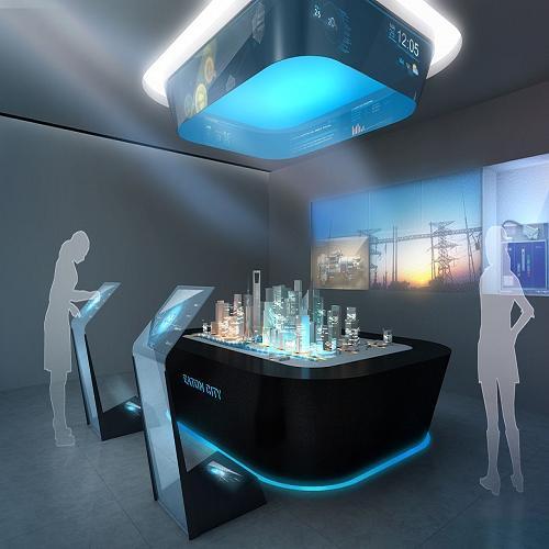 洛阳展厅多媒体公司/专业沙盘模型/河南国创展览展示有限公司高清图片图片
